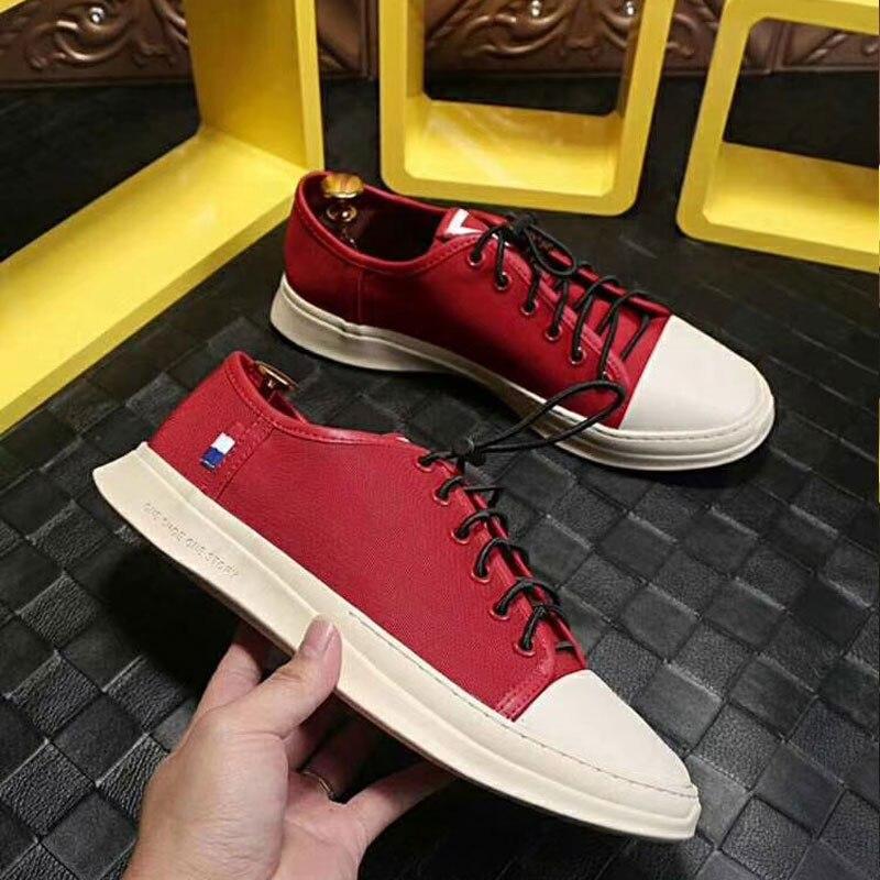 2018 automne vulcaniser chaussures pour hommes bande élastique plate forme Oxford toile plate robe hommes chaussures de haute qualité à la main chaussures pour hommes