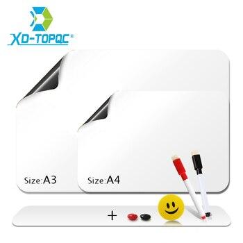 Elastyczne Mini tablice magnesy na lodówkę miękka tablica ogłoszeń lodówka notatnik notatki magnetyczne białe tablice naklejki FM03