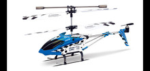 Original SYMA S107n 3.5 Ch Gyro Mini Indoor Co-Axial Alloy Flashing RC Helicopter Radio Control Toys Drone Red/Blue