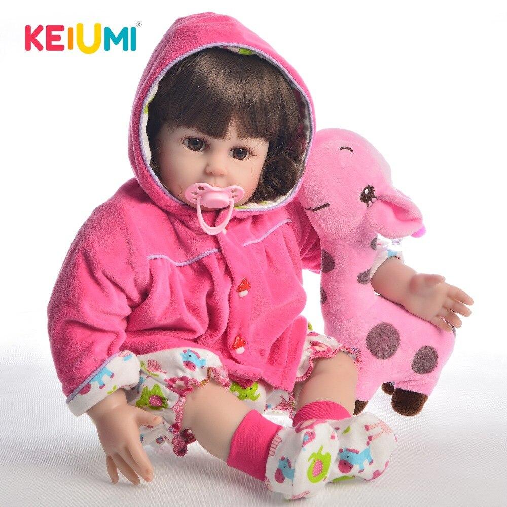 KEIUMI Fashion 20 Inch Reborn Dolls 50 cm Silicone Soft Vinyl Realistic Girl Princess Baby Doll