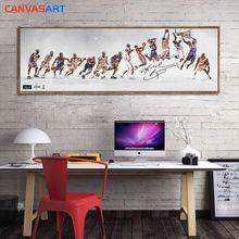 Холст Искусство HD части картины Кобе Брайант Лейкерс династии дорога к росту стены искусства холст плакат для гостиной домашний декор