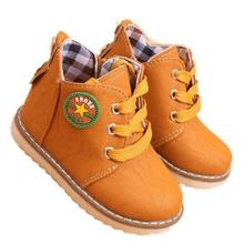 New Arrival 2016 Fashion Children shoes Martin boots Autumn Boys Girls shoes Kids Ankle boots Flats Winter Snow boots 0.9/2