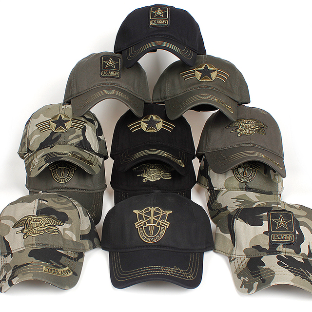 7b75a1aea49 New Men Navy Seal hat Top Quality Army green Snapback Caps Hunting Fishing  Hat Outdoor Camo
