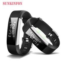 ID147 Bluetooth Sensible Wristband Bracelet Health Sleep Tracker Pedometer Coronary heart Price Monitor for Motorola XiaoMi LG HTC Telephones