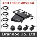 4ch 1080P mobile DVR kit, with 4pcs inside HD camera and 4pcs video cables.