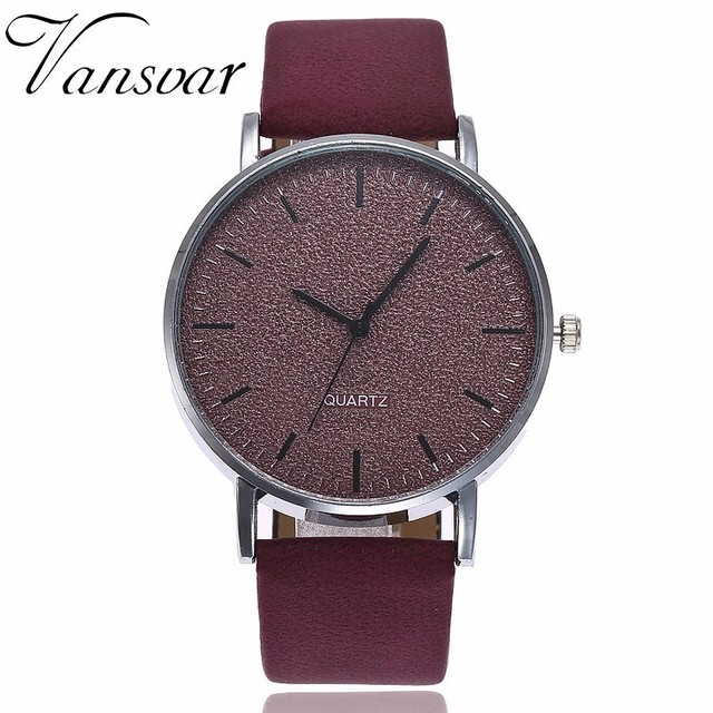 Drop Shipping Unisex Watches Women Men Casual Fashion Leather Strap Quartz Wrist