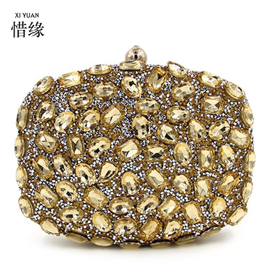 XIYUAN BRAND Messenger Women Beaded Evening Bags lady Diamonds Small Purse Evening Bag Candy Color Mix Handbags For Wedding new brand handbags wedding bride messenger handbag evening diamonds women wallet female wedding clutch bags lady party bag purse