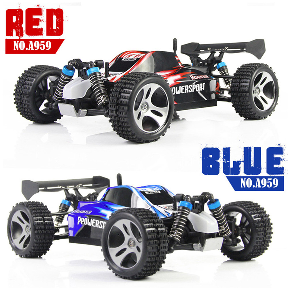 WLtoys A959 1:18 Scale 2.4Ghz Remote Control Off-road Racing Car High Speed Shockproof Stunt SUV RC Mini Car Toy Gift for Kids