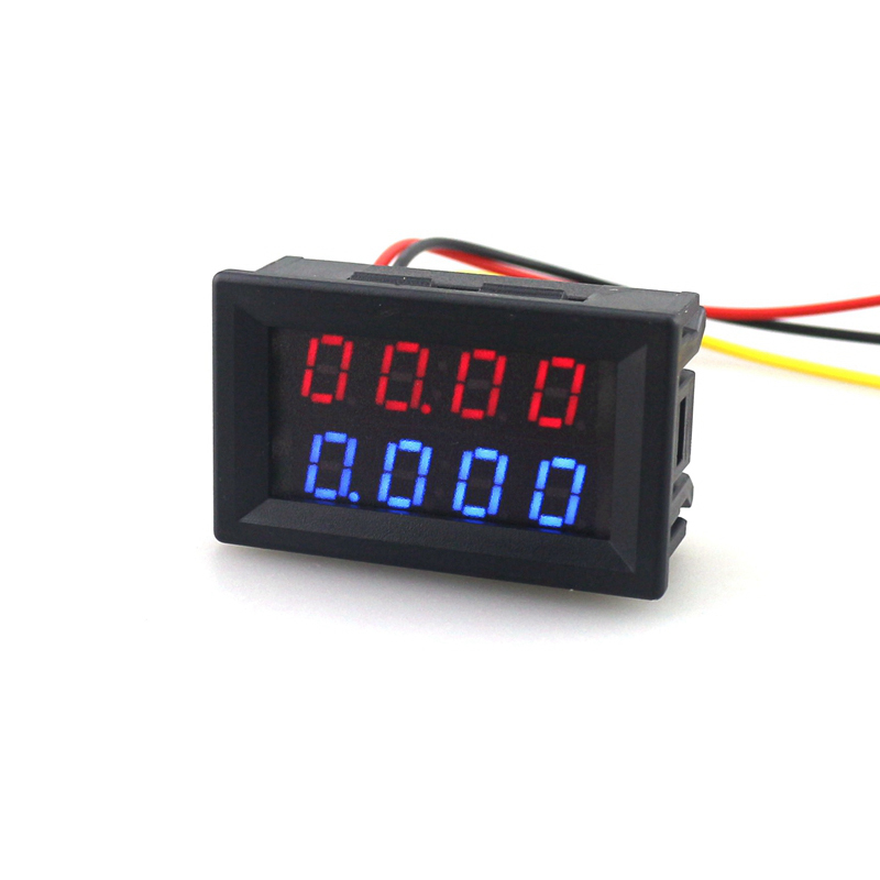Digitális DC 200V 0-10A voltmérő ampermérő piros, kék LED-es - Mérőműszerek - Fénykép 2