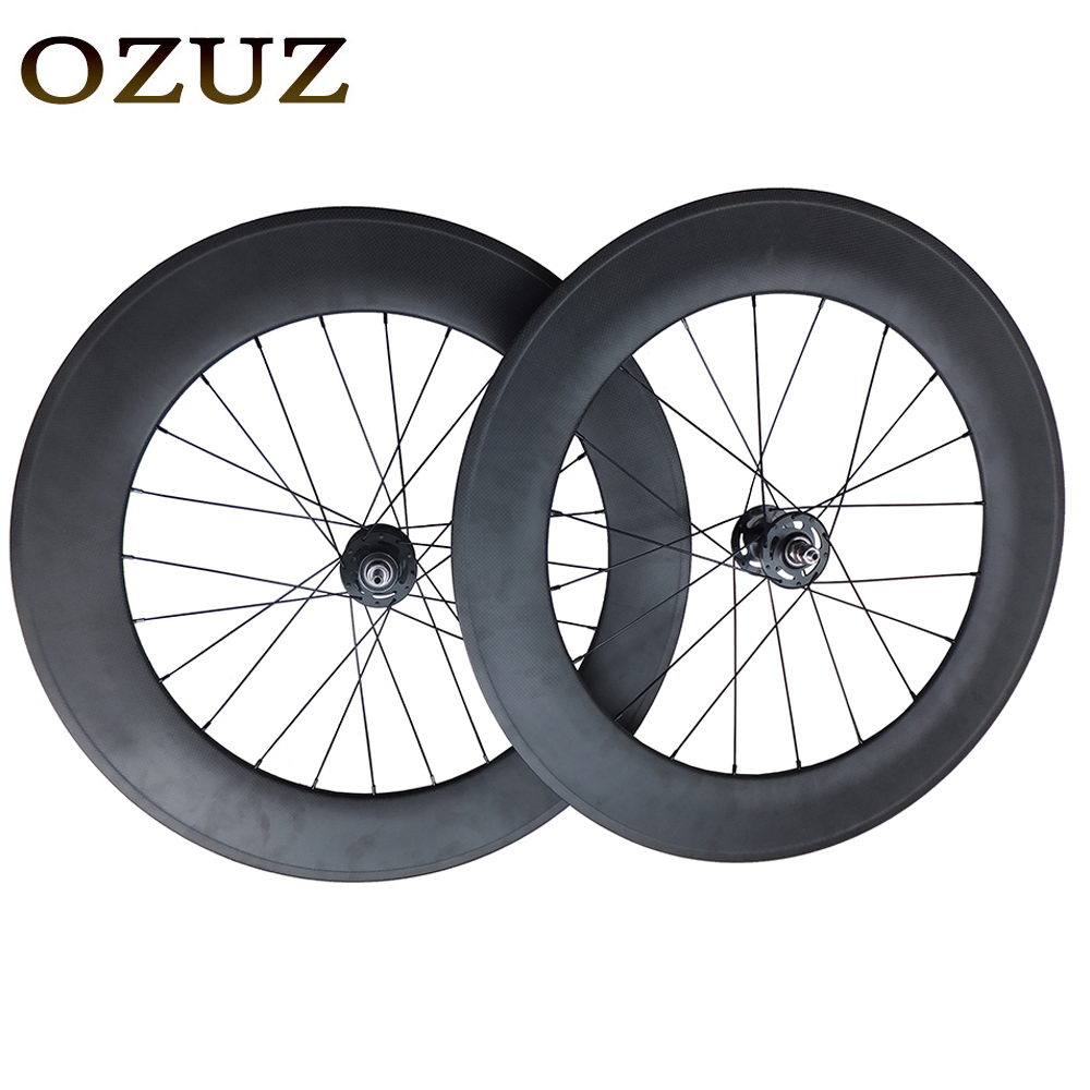 Free Customs Fee Carbon Cycling Wheels 88mm Bike Wheel Clincher Tubular Single Speed 23mm Width Road Bike Carbon Wheel 700C 1pcs magnesium alloy single speed fixed gear bike wheels 700c road racing venues inch wheel bicycle accessories