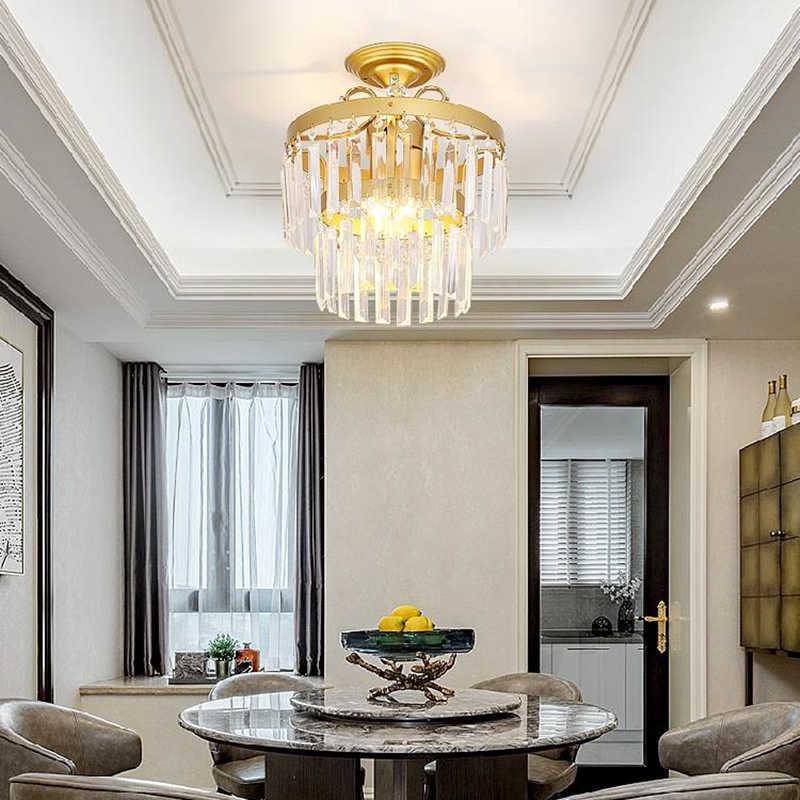 Современные креативные Хрустальные потолочные лампы, светодиодный светильник для гостиной, столовой, стеклянный потолочный светильник, светодиодный светильник, потолочный светильник s