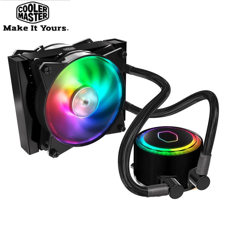 Cooler Master CPU Liquido di Raffreddamento 120mm RGB silenziosa ventola Per Intel 775 115X2011 2066 e AMD AM4 AM3 + CPU acqua di raffreddamento per PC radiatore