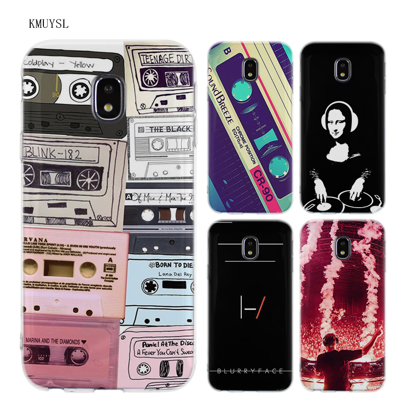KMUYSL dj music art TPU Transparent Soft Case Cover for Samsung Galaxy J5 J7 J3 2016 2017