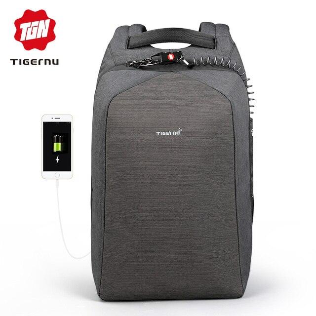 Tigernu Multifuncional anti theft USB laptop mochila Ocasional diária 15.6 polegada laptop saco de viagem mochila para homens mulheres Mochila