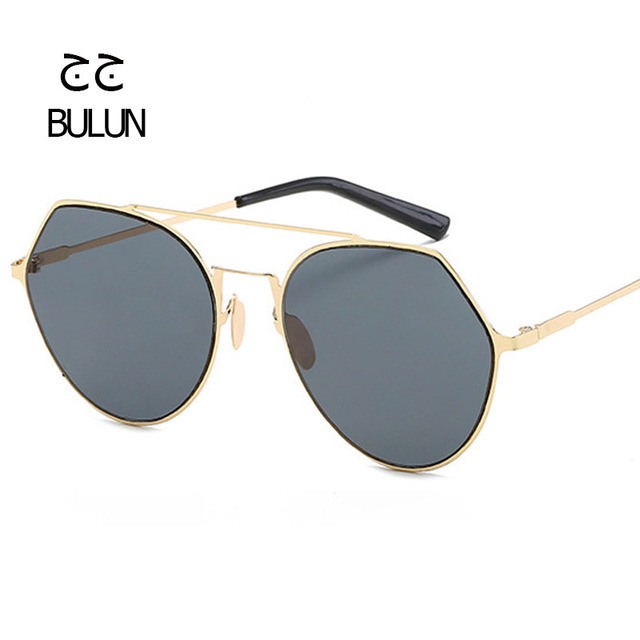 6b9a43ce46dd BULUN Fashion Luxury Round Sunglasses Men Women Brand Designer Vintage  Metal Frame Mirror Lenses Retro Sun glasses Oculo de sol