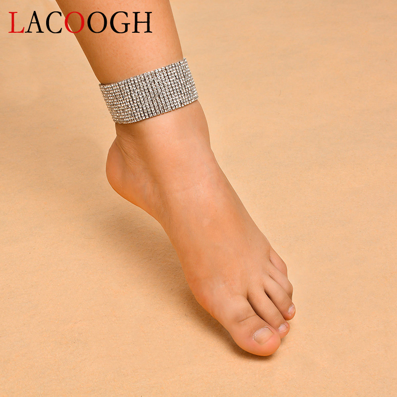 Lacoogh New Trendy Fashion Gypsy Anklets For Women Multilayer Gold Silver Color Crystal Bohemia Ankle Foot Leg Chain Bracelets Utmost In Convenience Jewelry & Accessories Jewelry Sets & More
