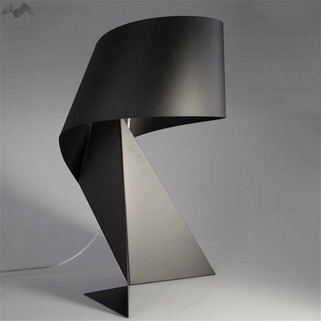 JW Nordic Style Modern Minimalist Creative Table Lamp Black Iron ...