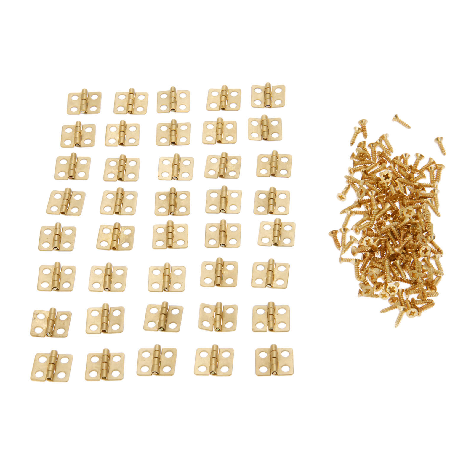 40Pcs Antique Mini Cabinet Drawer Door Furniture Butt Hinges 4 Holes Jewelry Boxes Decorative Hardware 13*12mm