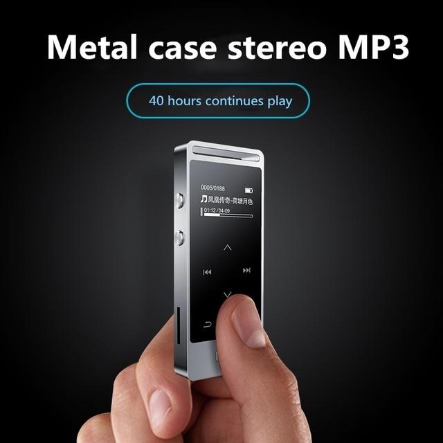 Yescool X3 8 ギガバイト金属プロ品質ミニボイスレコーダー MP3 ハイファイ loseless 音楽プレーヤー FM ラジオタッチスクリーン銀色