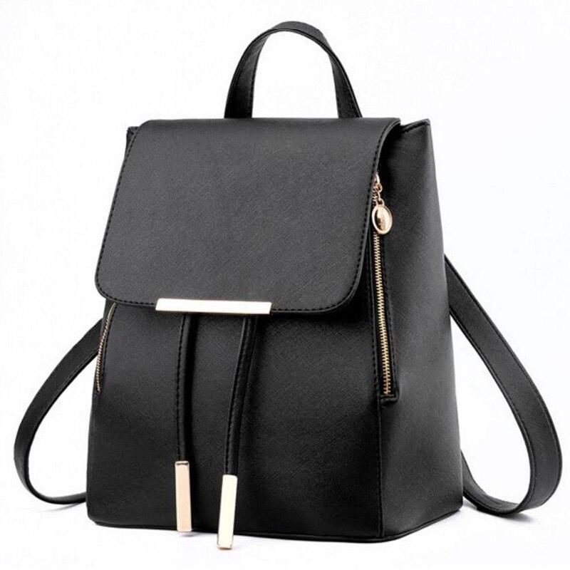 HTB1YSjaavBNTKJjy1zdq6yScpXak Ainvoev Bookbag Women Backpack Fashion Girls Leather Backpack Candy Color Teenage School bag Mochila High Quality Satchel