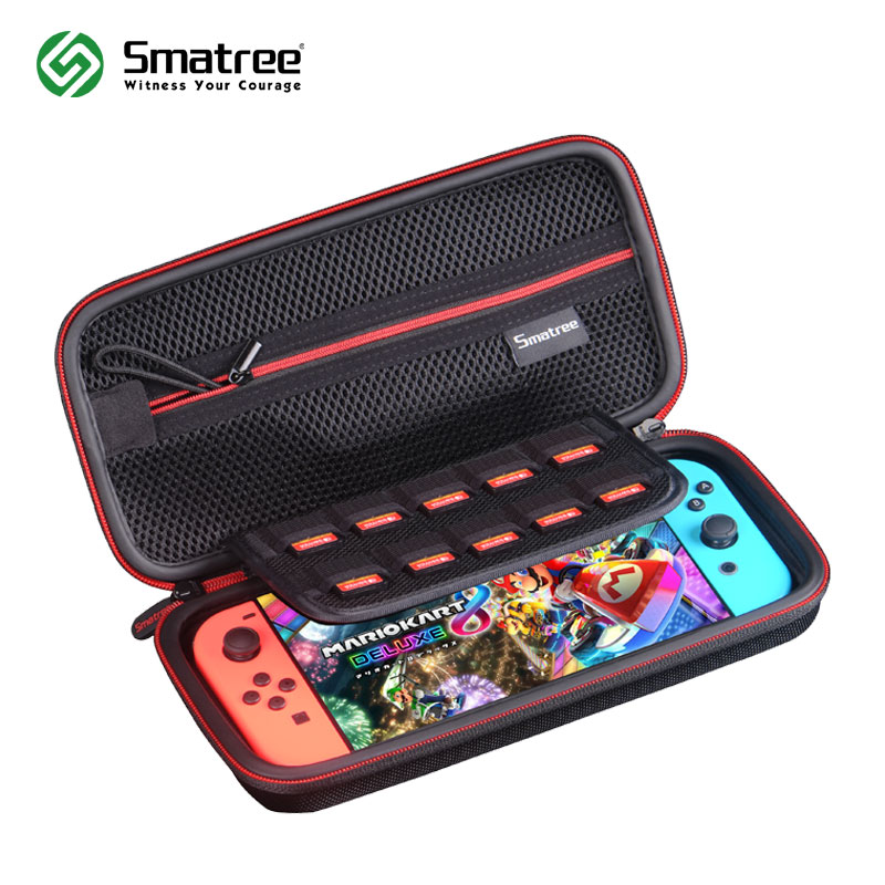 Smatree EVA Protective Hard Case Carrying Bag for Nintend Switch,Nintendo Switch Console Cards Handheld Travel Storage Hard bag smatree n500 for switch case handbags ns carrying case storage carrying case portable travel bag for nintend switch accessories
