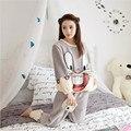 2016 Nueva Pjamas Payjamas Pijama de Franela Engrosamiento Invierno de Las Mujeres Para Las Mujeres Conjuntos de Pijamas de Invierno pjamas ropa de casa para las mujeres