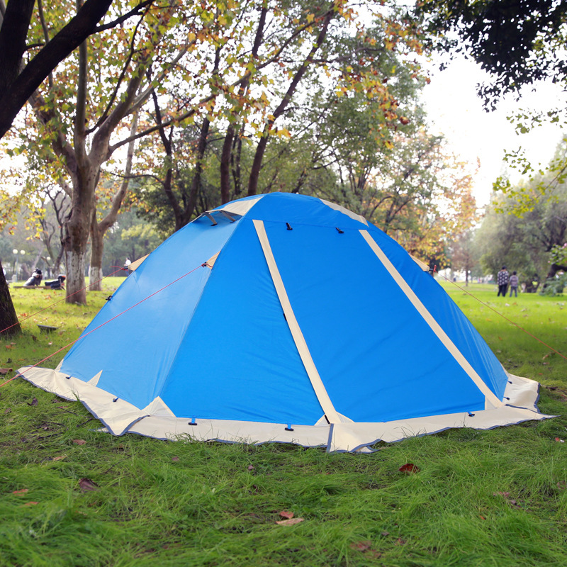 2 person 2 layer 4 season aluminum rod snow skirt rainproof antiwind hiking travel cycling fishing beach outdoor camping tent good quality flytop double layer 2 person 4 season aluminum rod outdoor camping tent topwind 2 plus with snow skirt