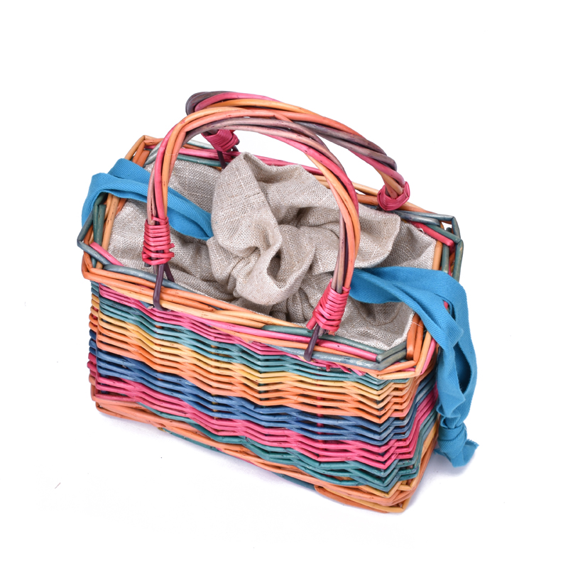 Cute Rattan Bag Square Straw Bag 1
