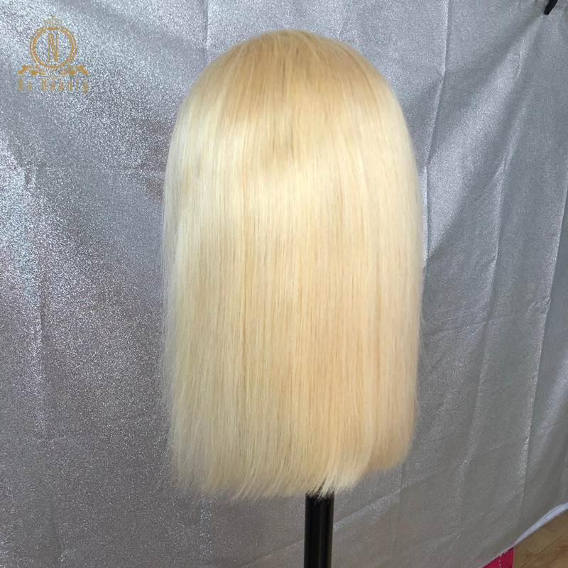 613 Short Bob Wigs 1B 613 Ombre Honey Remy Pre Plucked Straight 13x6 Blonde Lace Front 613 Short Bob Wigs 1B 613 Ombre Honey Remy Pre Plucked Straight 13x6 Blonde Lace Front Human Hair Wig for Women Natural Black