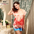 Silk Satin High Quality Robe Floral Bathrobe Short Chinese Women Robe Night Robe Bath Robe Fashion Dressing Nightgown