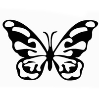 HotMeiNi 40cm x 34.2cm 2X Butterfly Stickers Car Sticker For Cars Side Truck Window ,Auto SUV Door Wall Vinyl Decal zhang1