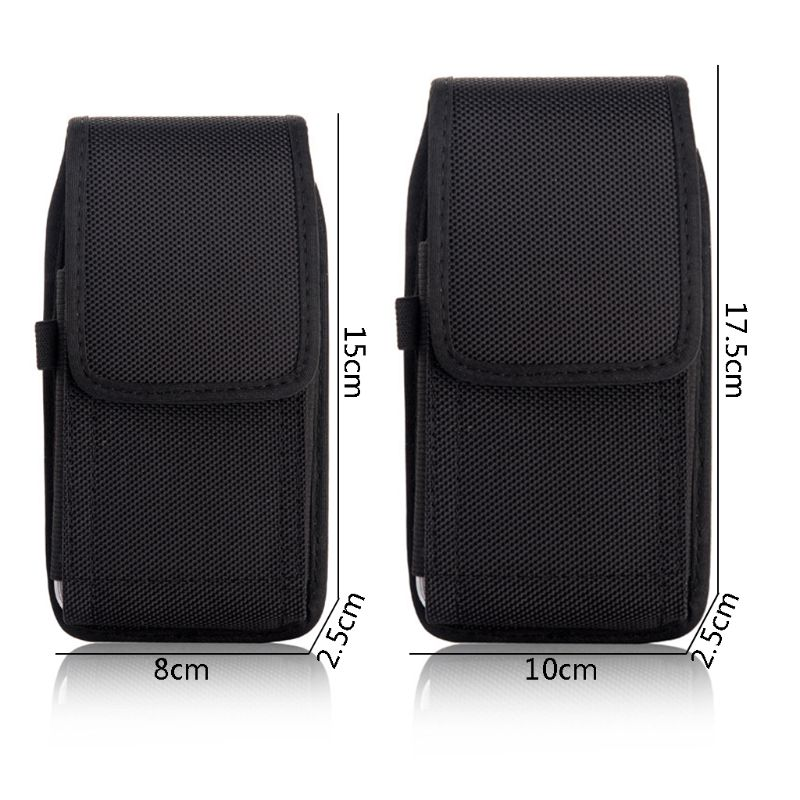Phone Pouch Hanging Waist Storage Bag Fanny Pack Black Classic Belt Clip Pouch Case For IPhone Waist Bag