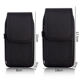 Phone Pouch Hanging Waist Storage Bag Fanny Pack Black Classic Belt Clip Pouch Case For iPhone Waist Bag i4 bk l protective leather waist belt bag case for iphone 4s 4 black