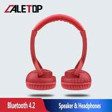 CALETOP Bluetooth Wireless Headphone Super Bass Gaming Headset For Computer TF Card Outdoors Mini Speakers with Cool LED Light
