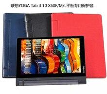Yoga TAB 3 10.1 X 50 caso de cuero para Lenovo YOGA TAB 3 10.1 X 50 X50F X50M de todo el cuerpo tableta de protección Case protectores