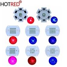 3 Вт 30 Вт 60 Вт 450нм 660нм Светодиодная лампа для роста растений Epi светодиодный s светодиодный излучатель светильник 660нм темно-красный 450нм королевский синий для комнатных садовых растений