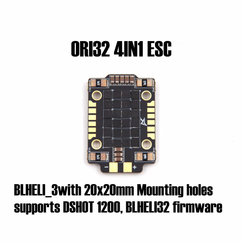 25A ORI32 4IN1 ESC (20X20) BLHELI_3with 20x20mm Mounting holes supports DSHOT 1200, BLHELI32 firmware for FPV racing quadcopter airbot brushess esc ori 4in1 4x25a 2020 supports dshot 600 blheli s 25a built current sensor brushed esc 30a for fpv quadcopter