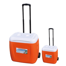 Outdoor Portable Rolling 38L cooler box with wheels telescoping handle car fridge outdoor portable fridge without electricity
