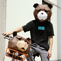 Bear mask DIY manual Paper model kawaii cute face masks anime unisex korean party hipster winter new 2018 special fashion