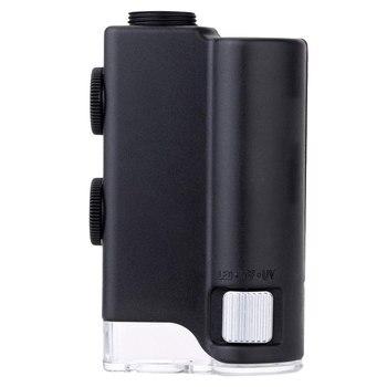 0-100X Przenośny Lupa Lupa Gem Regulowany Mikroskop Wielofunkcyjne Urządzenie Powiększające Z LED I światło Ultrafioletowe
