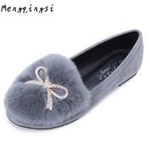 Btksyxgs-Осень-зима благородное женские зимние ботинки брендовые Дизайн кроличьем меху женская обувь 35—43
