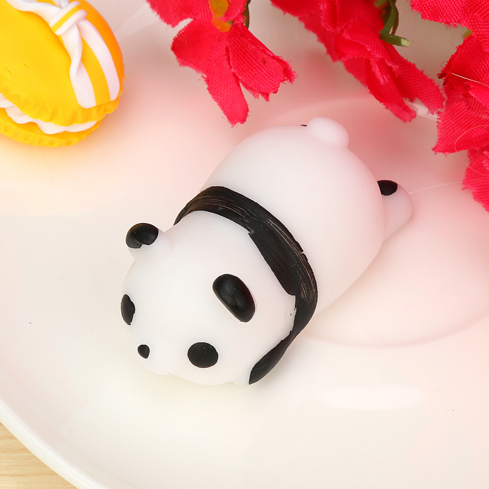 Cute Panda Mochi Squishy Squeeze Toy Healing Fun Kids Kawaii Squishes Slow Rising Toy Stress Relief Toys Kawaii Stationery A1