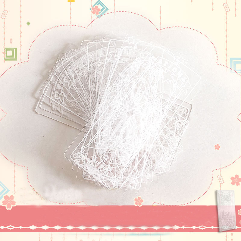 1 Pcs Kawaii Cosplay Card Bookmark Captor Sakura CLEAR CARD Clow LOMO Cards Tarot Prop Transparent Acrylic Cards for Kid gift 2016 new scrapbook diy photo album cards transparent acrylic silicone rubber clear stamps sheet enjoy