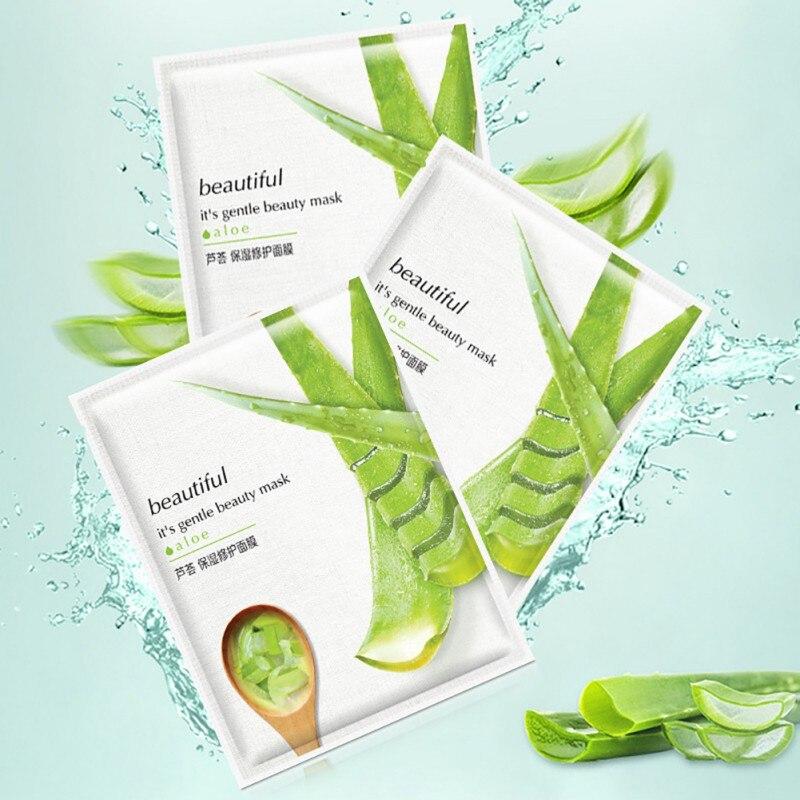 10 stücke Aloe vera moisturizing oberfläche Bleaching ort film schrumpfen poren aloe vera Gesichtsmaske weibliche maske