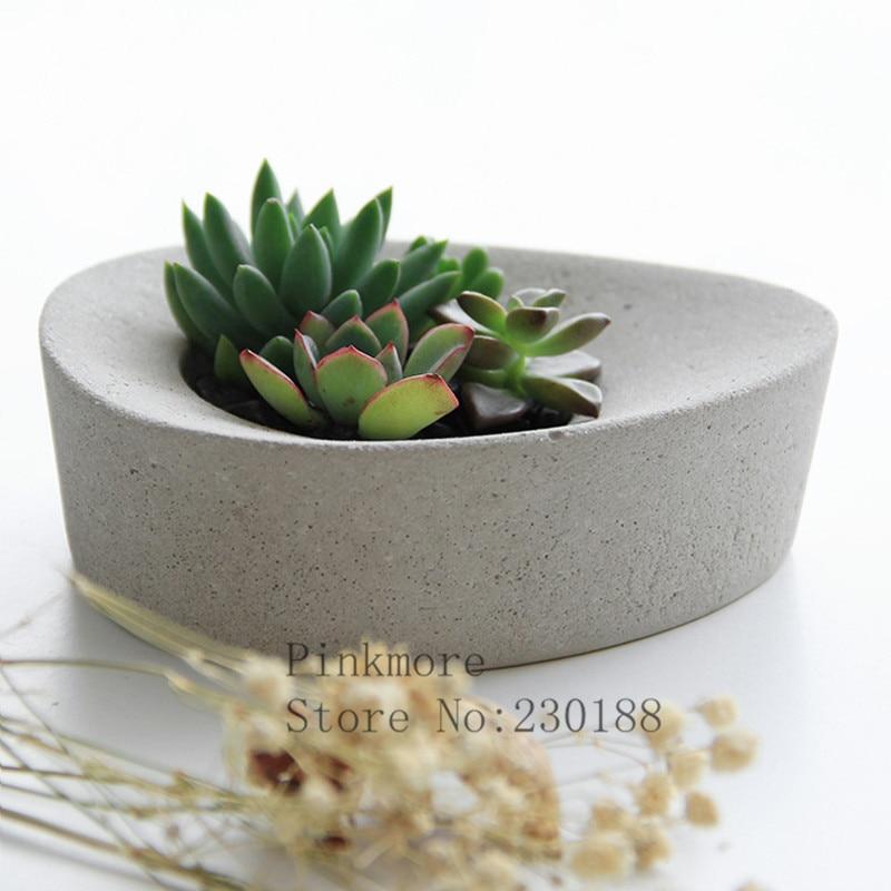 100% Pinkmore Flowerpot Silicone Molds Decorative Concrete Pot Molds Silicone Mold For Flower Pot DIY Concrete Craft