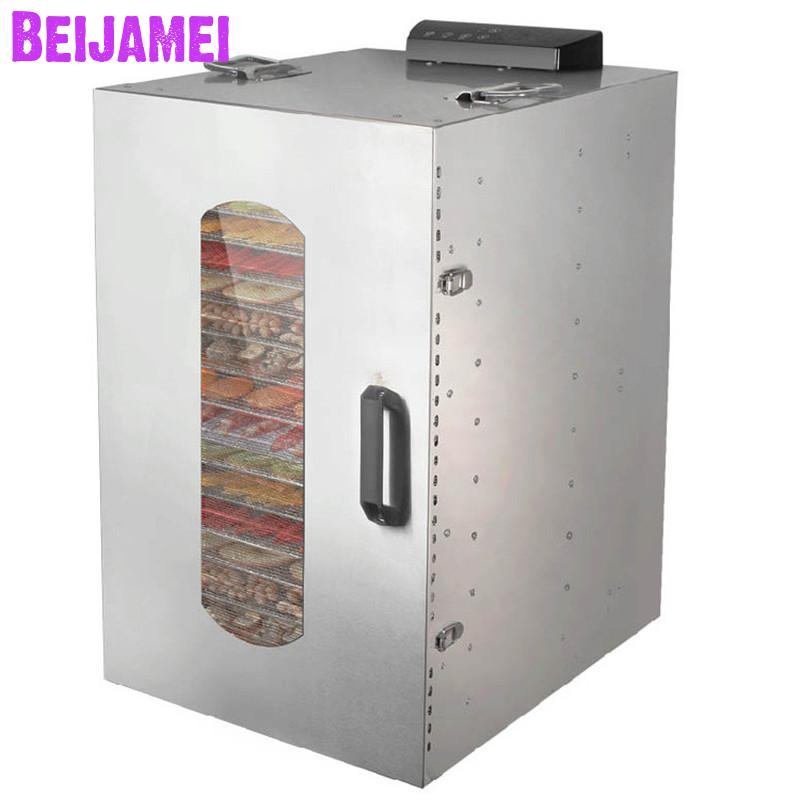 BEIJAMEI 20 trays Food Dehydrator Commercial Fruit Vegetable Herb Meat Drying Machine 110V 220V Pet Snacks food DryerBEIJAMEI 20 trays Food Dehydrator Commercial Fruit Vegetable Herb Meat Drying Machine 110V 220V Pet Snacks food Dryer