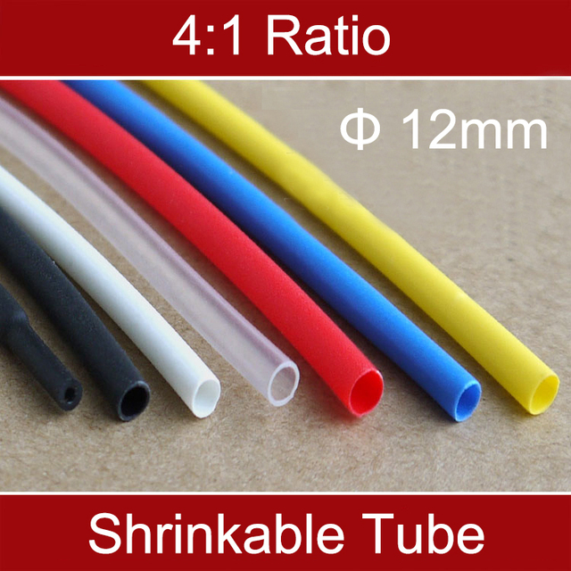 1M Ratio 4:1 12mm Dia Double Wall Black White Red Clear Thermosol ...