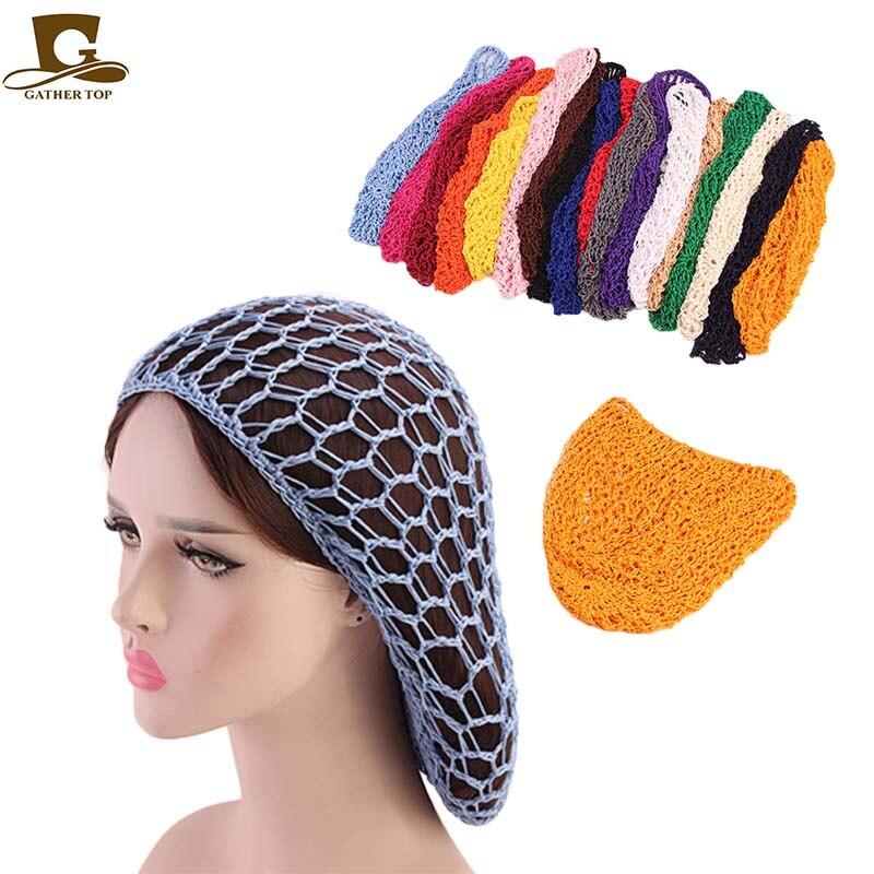 Yumuşak Rayon Snood şapka Saç Net Tığ Işi Saç Net cap mix renkler dropshipping