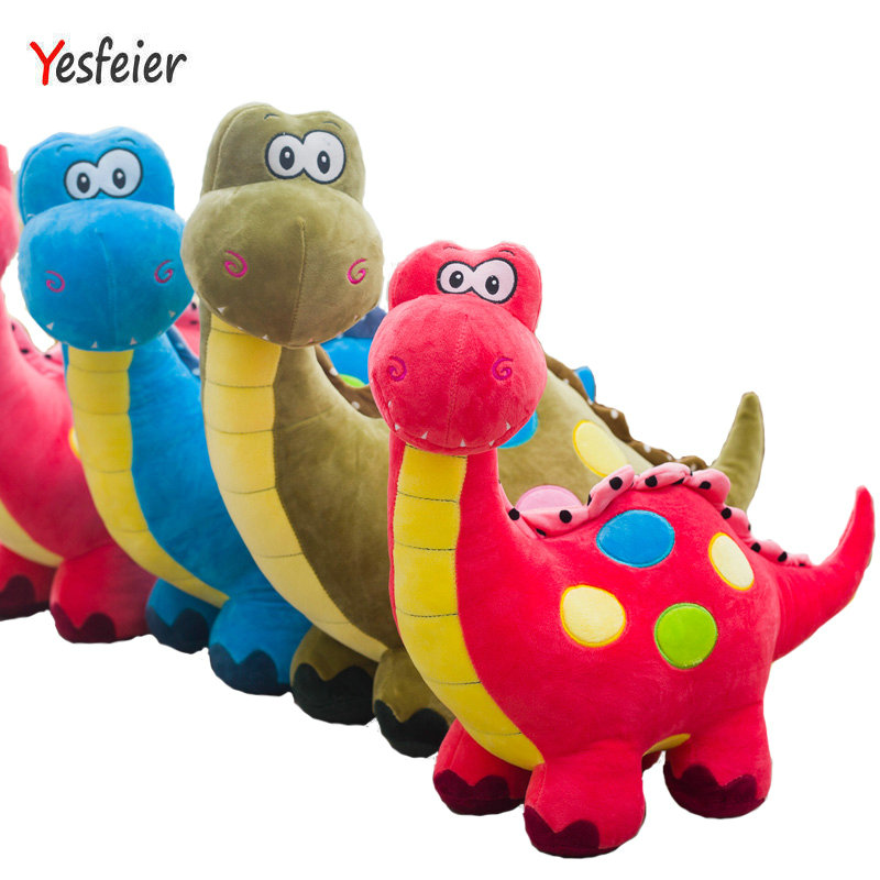 3 colors New Dinosaur plush toys stuffed plush animals doll baby pillow soft cushion birthday gift 55-65 cm Drop