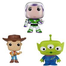 Película de dibujos animados juguetes historia Woody Buzz Lightyear  alienígena vinilo figura de colección modelo Juguetes cca9949979c